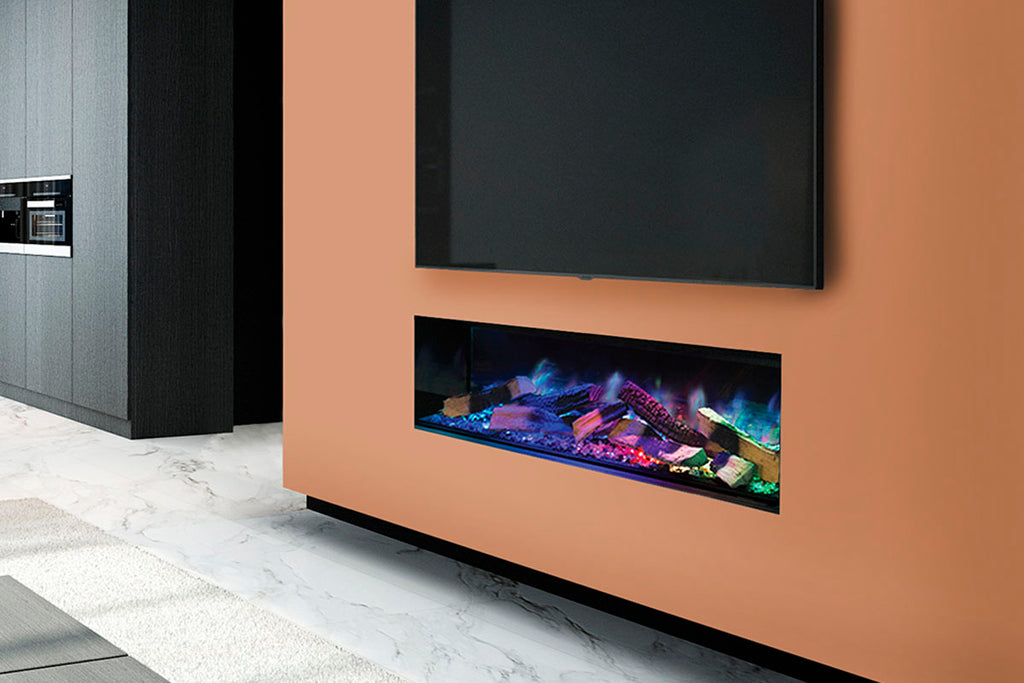 European Home Evonicfires 60 Inch Linnea Halo Series Built-In Linear Electric Fireplace | EV-FP-Halo-LINNEA | Electric Fireplaces Depot