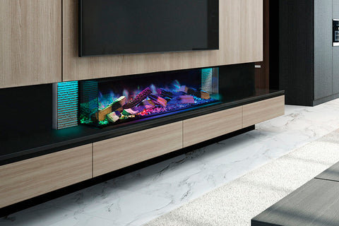 Image of European Home Evonicfires 60 Inch Linnea Halo Series Built-In 3-sided Electric Fireplace | EV-FP-Halo-LINNEA  | Electric Fireplaces Depot