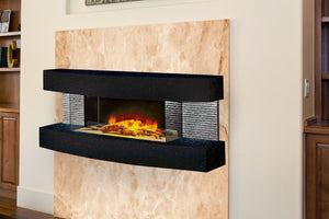 Evolution Fires Miami Curve 48'' Wall Mount 3-sided Electric Fireplace - Star Galaxy Graphite