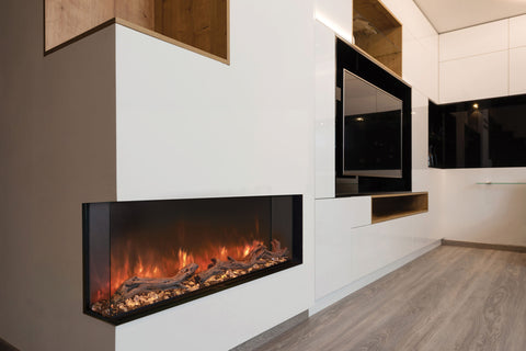 Image of Modern Flames Landscape Pro Multi 96-inch 3 Sided and 2 Sided Built In Wall Mount Linear Electric Fireplace | LPM-9616 | Electric Fireplaces Depot