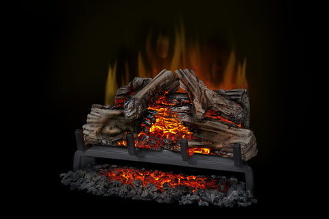 Image of Napoleon Woodland 24 Inch Electric Fireplace Logs Insert - Heater - Log Set - NEFI24H - Electric Fireplaces Depot