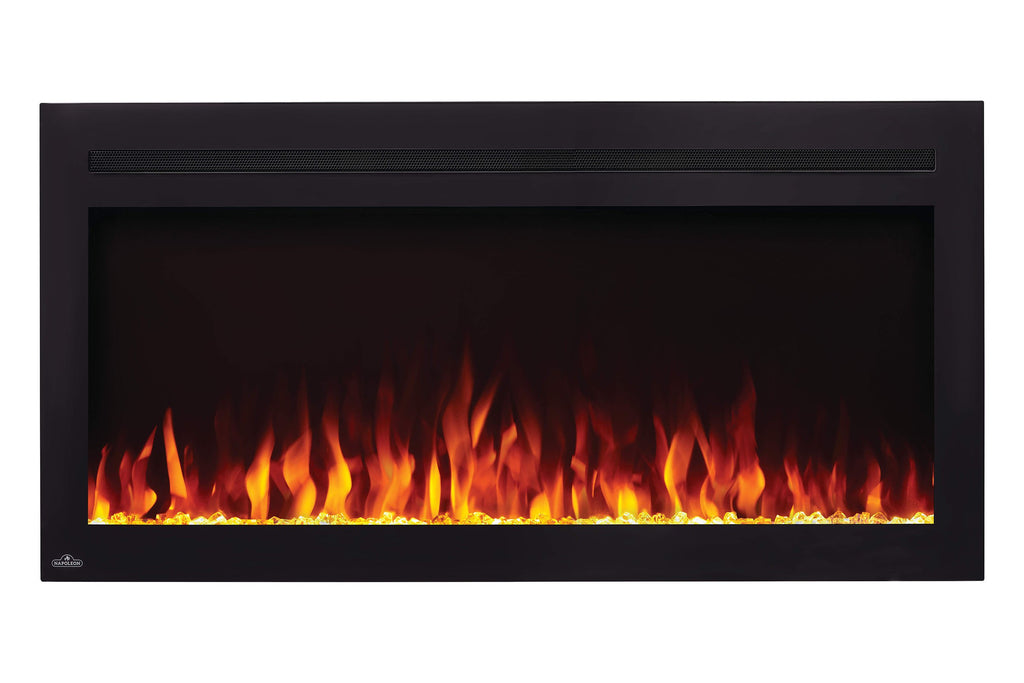 Napoleon Purview 42 Inch Wall Mount Built In Recessed Electric Fireplace | NEFL42HI | Pureview Electric Insert | Electric Fireplaces Depot