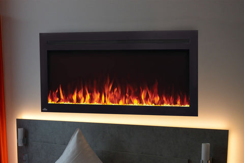 Image of Napoleon Purview 42 Inch Wall Mount Built In Recessed Electric Fireplace | NEFL42HI | Pureview Electric Insert | Electric Fireplaces Depot