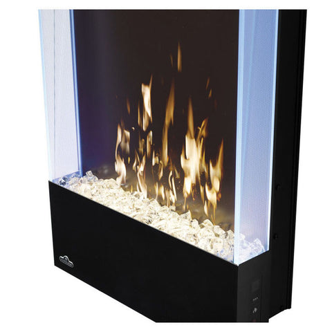 Image of Napoleon Allure Vertical 32 Inch Wall Mount Electric Fireplace - NEFVC32H - Electric Fireplaces Depot