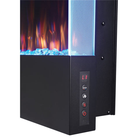 Napoleon Allure Vertical 38 Inch Wall Mount Electric Fireplace - NEFVC38H - Electric Fireplaces Depot
