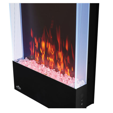 Image of Napoleon Allure Vertical 38 Inch Wall Mount Electric Fireplace - NEFVC38H - Electric Fireplaces Depot