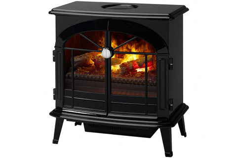 Image of Dimplex Stockbridge Opti-Myst Freestanding Electric Stove in Black Finish - OS2527GB - Electric Fireplaces Depot