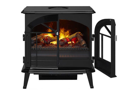 Image of Dimplex Stockbridge Opti-Myst Electric Fireplace Stove in Black Finish