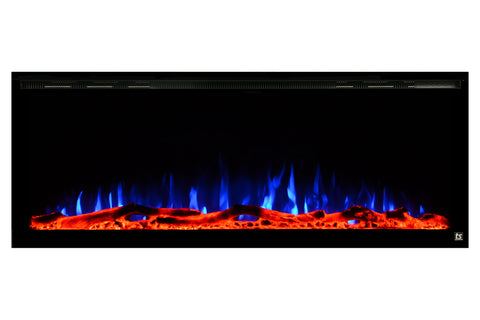 "Touchstone Sideline Elite 60"" Built-In Recessed Flush Mount Electric Fireplace - 80037 - Electric Fireplaces Depot"