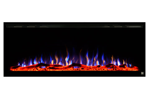 Image of Touchstone Sideline Elite 42 inch Built-In Recessed Flush Mount Electric Fireplace - 80042 - Electric Fireplaces Depot
