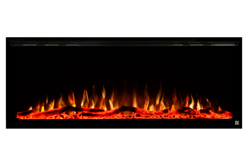 Touchstone Sideline Elite 42 inch Built-In Recessed Flush Mount Electric Fireplace - 80042 - Electric Fireplaces Depot