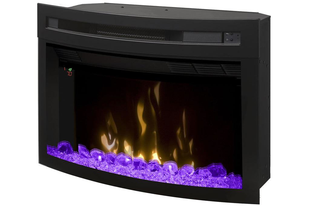 Dimplex 25'' Multi-Fire XD Electric Firebox - Fireplace - Insert - Curved - PF2325CG - Electric Fireplaces Depot