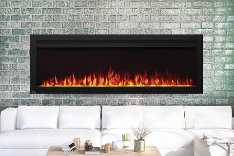 Napoleon Purview 60 Inch Wall Mount Built In Recessed Electric Fireplace | NEFL60HI | Pureview Electric Insert | Electric Fireplaces Depot