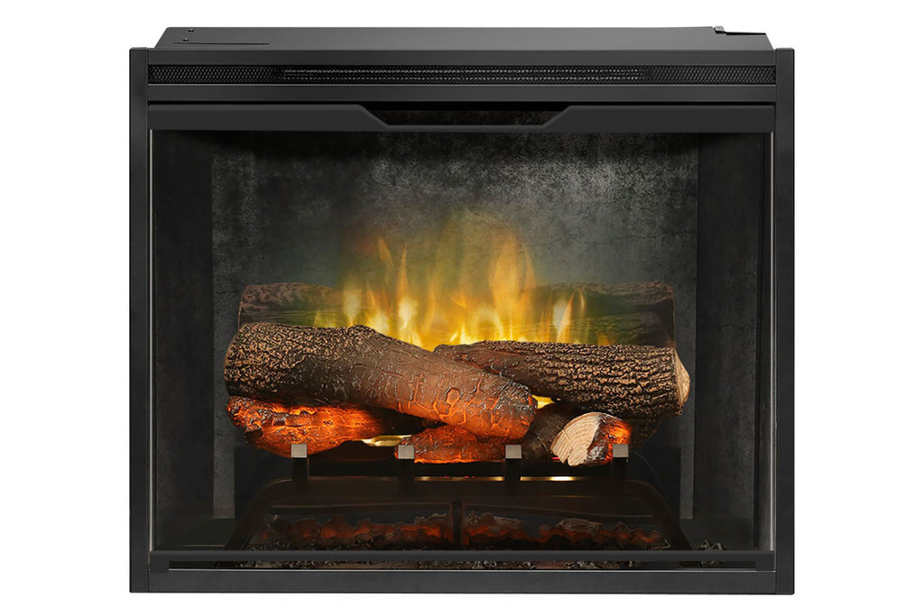 Dimplex Revillusion 24 inch Built In Electric Fireplace Weathered Concrete - Firebox - Heater - RBF24DLXWC - Electric Fireplaces Depot