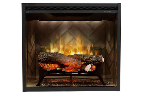 Dimplex Revillusion 24 inch Built In Electric Fireplace Herringbone Brick- Firebox - Heater - RBF24DLX - Electric Fireplaces Depot