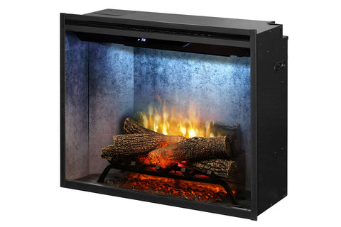 Dimplex Revillusion 30 inch Built In Electric Fireplace Weathered Concrete - Firebox - Heater - RBF30WC - Electric Fireplaces Depot