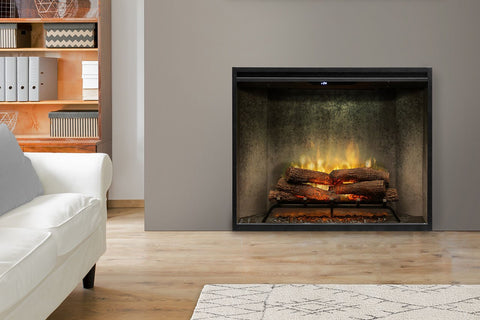 Image of Dimplex Revillusion Portrait 36 inch Built In Electric Fireplace Weathered Concrete - Firebox - Heater - RBF36PWC - Electric Fireplaces Depot