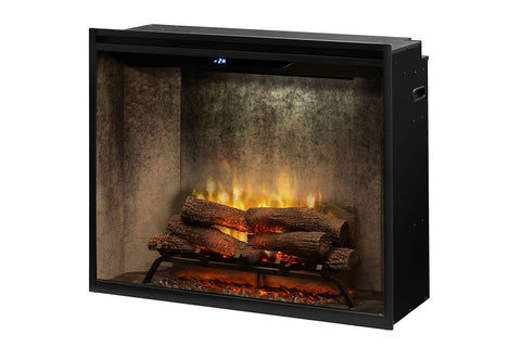 Dimplex Revillusion Portrait 36 inch Built In Electric Fireplace Weathered Concrete - Firebox - Heater - RBF36PWC - Electric Fireplaces Depot