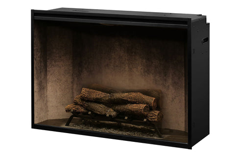 Image of Dimplex Revillusion 42 inch Built In Electric Fireplace Weathered Concrete - Firebox - Heater - RBF42WC - Electric Fireplaces Depot