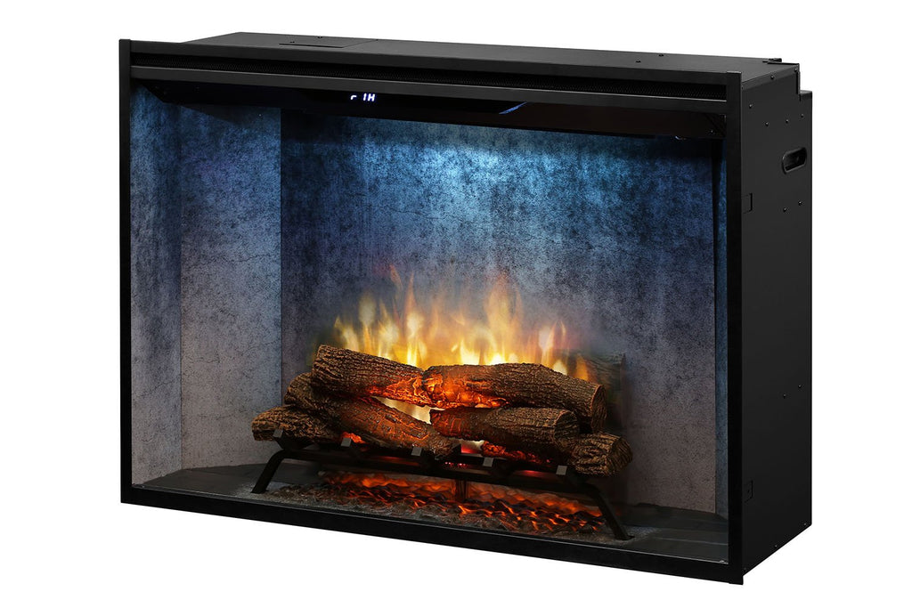 Dimplex Revillusion 42 inch Built In Electric Fireplace Weathered Concrete - Firebox - Heater - RBF42WC - Electric Fireplaces Depot