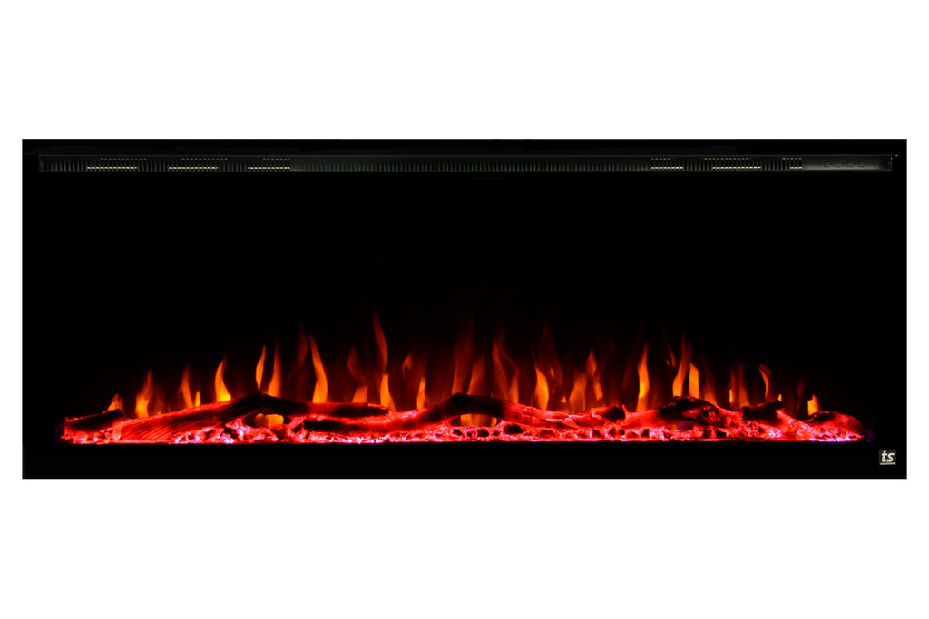"Touchstone Sideline Elite 72"" Built-In Recessed Flush Mount Electric Fireplace - 80038 - Electric Fireplaces Depot"