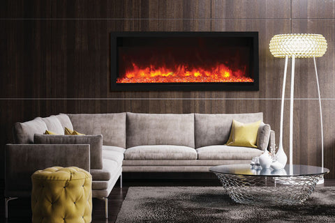 Image of Remii 55 inch Extra Tall Built-In Indoor Outdoor Electric Fireplace | Heater | 102755-XT |  Electric Fireplaces Depot