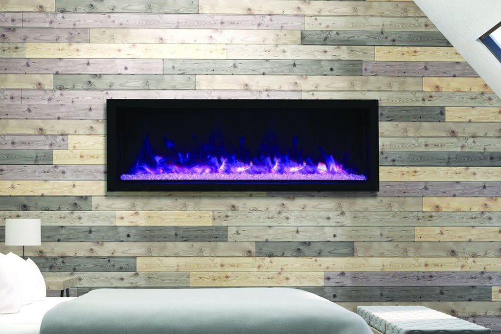Remii 65 inch Extra Tall Built-In Indoor Outdoor Electric Fireplace | Heater | 102765-XT | Electric Fireplaces Depot