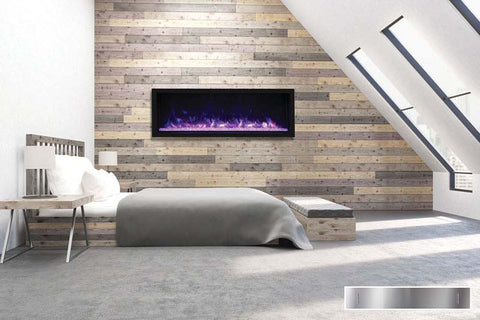 "Remii 65"" Extra Tall Deep Built-In Electric Fireplace"
