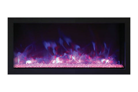 Image of Remii 35 Inch Extra Slim Built-In Indoor Outdoor Electric Fireplace | Heater | 102735-XS | Electric Fireplaces Depot