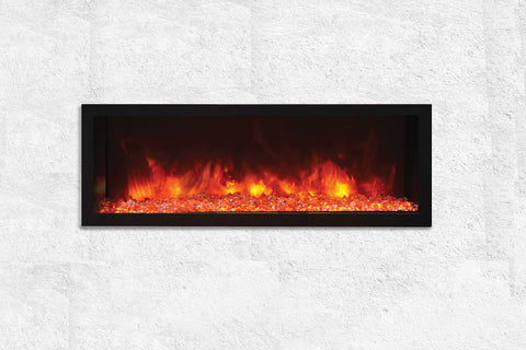 Image of Remii 45 inch Extra Deep Built-In Indoor Outdoor Electric Fireplace | Heater | 102745-DE | Electric Fireplaces Depot