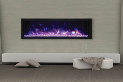 Remii 55 Inch Extra Slim Built-In Indoor Outdoor Electric Fireplace | Heater | 102755-XS | Electric Fireplaces Depot