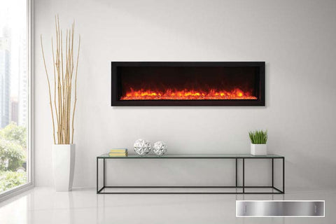 Remii 55 inch Extra Tall Built-In Electric Fireplace - Heater - Modern - Electric Fireplaces Depot