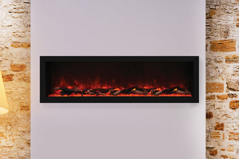 Remii 55 inch Extra Deep Built-In Indoor Outdoor Electric Fireplace | Heater | 102755-DE | Electric Fireplaces Depot