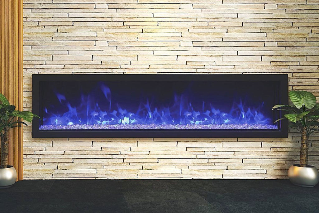 Remii 65 Inch Extra Slim Built-In Indoor Outdoor Electric Fireplace | Heater | 102765-XS | Electric Fireplaces Depot