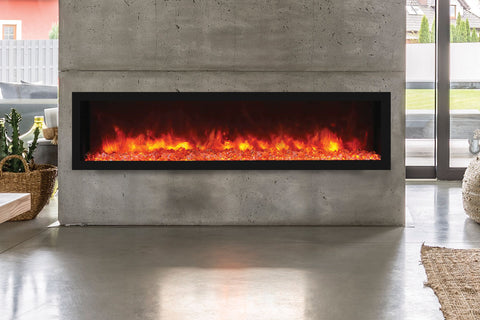 Remii 65 inch Extra Deep Built-In Indoor Outdoor Electric Fireplace | Heater | 102765-DE | Electric Fireplaces Depot