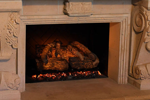 Image of Modern Flames 26 Inch Sunset Charred Oak Wifi Battery Operated Electric Fireplace Log Insert | SCO-26EL | Electric Fireplaces Depot