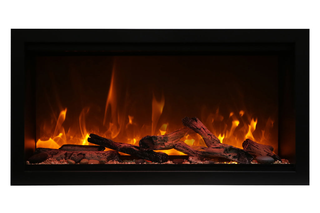 Amantii Symmetry 34'' Extra Tall & Deep Built In Linear Electric Fireplace