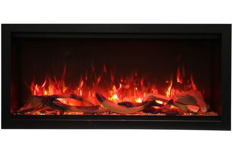 Image of Amantii Symmetry 60'' Built In Fully Recessed Flush Mount Linear Electric Fireplace | Extra Tall Deep | SYM-60-XT | Electric Fireplaces Depot