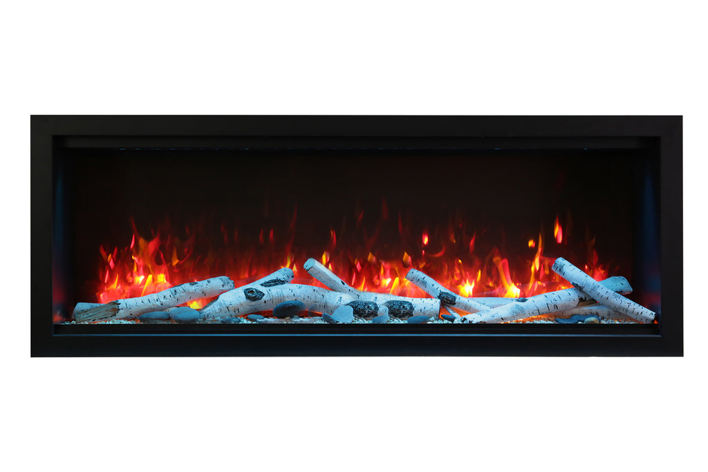 Amantii Symmetry 34'' Built In Fully Recessed Flush Mount Linear Electric Fireplace | Extra Tall Deep | SYM-34-XT | Electric Fireplaces Depot