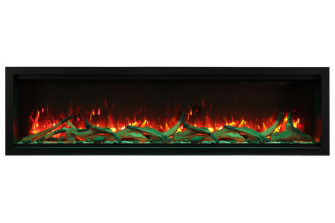 Image of Amantii Symmetry 100'' Extra Tall & Deep Recessed Linear Electric Fireplace