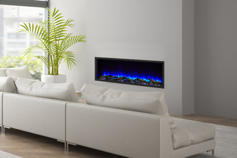 Hearth & Home SimpliFire Scion 55-inch Built-In Linear Electric Fireplace | SF-SC55-BK | Modern Electric Fireplace | Electric Fireplaces Depot