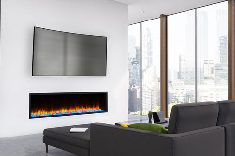 Image of Hearth & Home SimpliFire Scion 78-inch Built-In Linear Electric Fireplace | SF-SC78-BK | Modern Electric Fireplace  |  Electric Fireplaces Depot