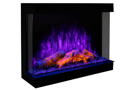 Modern Flames Sedona Pro Multi 30-inch 3 Sided 2 Sided Built In Electric Fireplace | Recessed Electric Firebox | SPM-3026 | Electric Fireplaces Depot