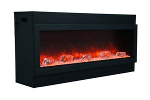 Amantii Panorama 72-inch Slim Built-in Indoor/Outdoor Linear Electric Fireplace