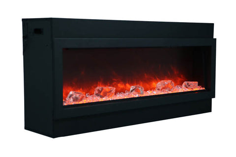 Image of Amantii Panorama 72 inch Slim Built-in Electric Fireplace - Heater - BI-72-SLIM-OD - Electric Fireplaces Depot