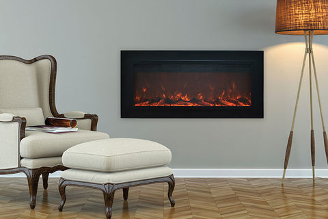 Touchstone Sideline Steel 50 inch Buit-in Electric Fireplace - Heater - 80025 - Electric Fireplaces Depot