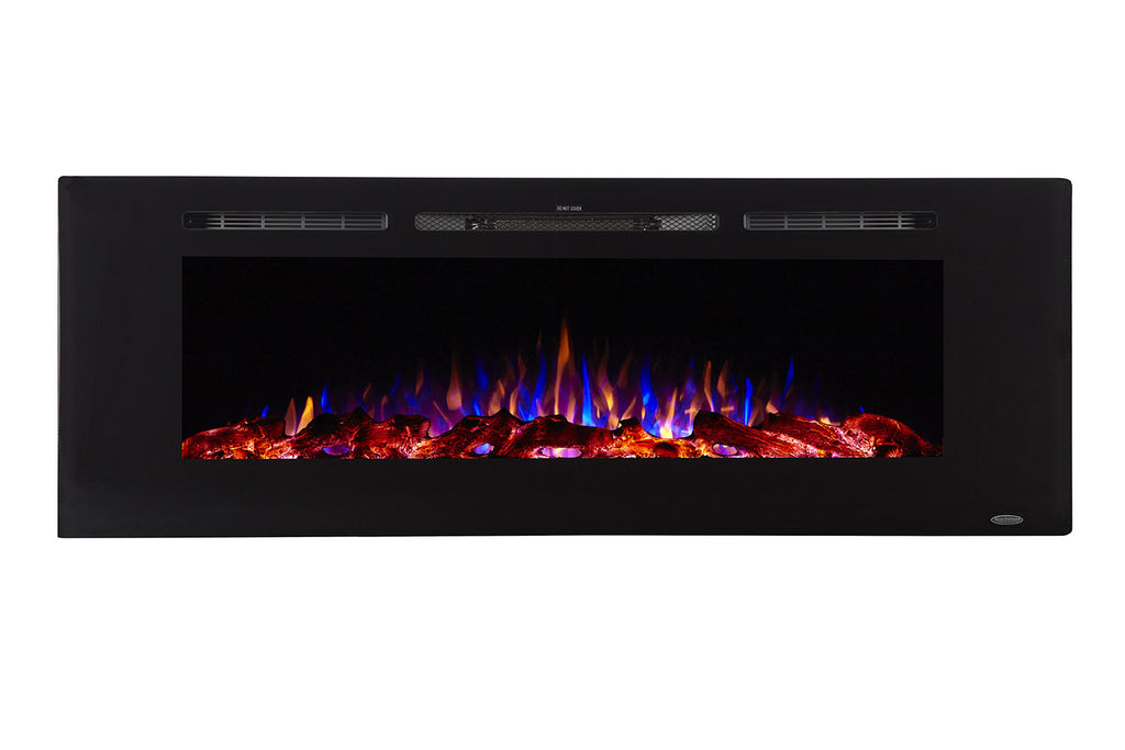 Touchstone Sideline 60 inch Built-in Electric Fireplace - Heater - 80011 - Electric Fireplaces Depot