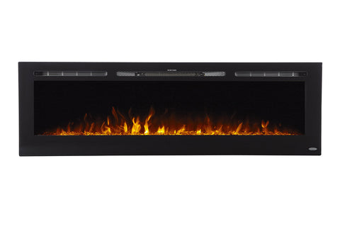 Image of Touchstone Sideline 72 inch Built-in Electric Fireplace - Heater - 80015 - Electric Fireplaces Depot