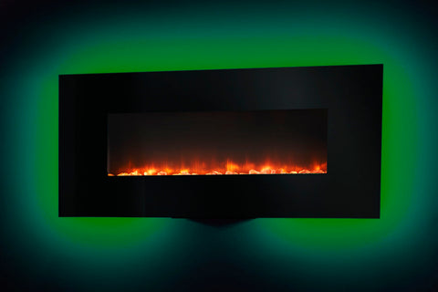 Hearth & Home SimpliFire 58-inch Wall Mount Linear Electric Fireplace | SF-WM58-BK | Electric Fireplaces Depot