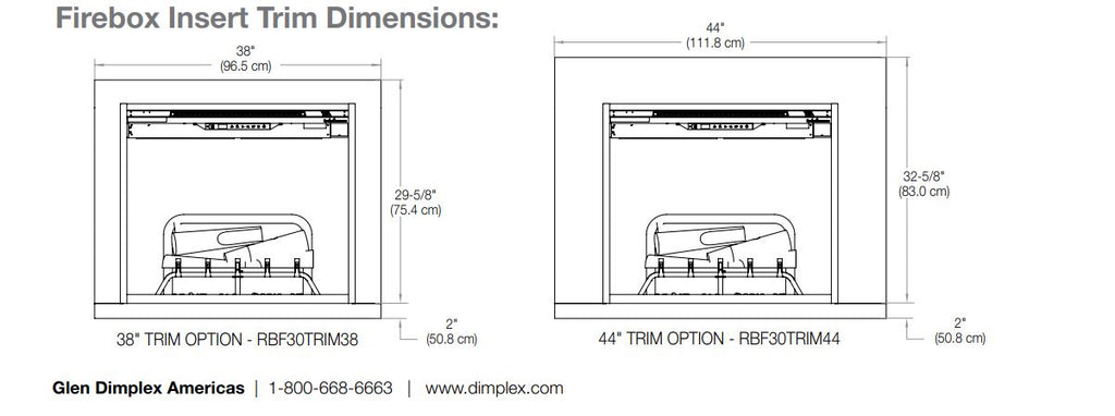 38'' Trim Kit Accessory for Dimplex RBF30 - Revillusion Firebox